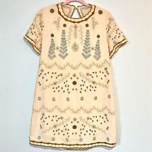 Sadie & Sage | Embroidered Open Back Mini Dress
